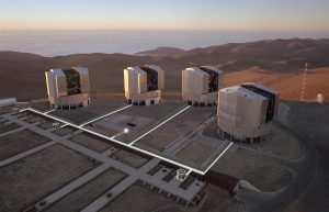 The observing platform on the top of Paranal mountain VLT Interferometer (VLTI), credit: ESO
