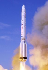 Proton rocket whose upper stage, after entering the Earth orbit, was mistaken for being a gamma-ray burst (Copyright NASA)